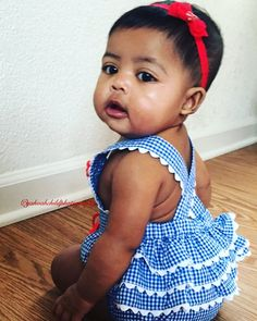 Laila Jewell (Juju) - 6 months • Filipino & African American ❤ Gorgeous baby girl (29 Nov 2015)