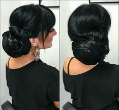Bun Hairstyle Bun Hairstyles, Makeup, Earrings, Fashion, Hair Buns, Make Up, Ear Rings, Moda, Stud Earrings