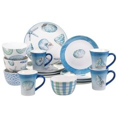 product image for Certified International Sea Finds 16-Piece Dinnerware Set