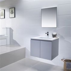Vanity Adams 25 - Quartz Stone bathroom vanity will help increase the space of your half bathroom with is floating design. It's available in espresso, metal grey, matte white, and light coffee to best compliment your bathroom decor style. Stone Bathroom, Small Bathroom, Master Bathroom, Bathrooms, Bathroom Vanities, Bathroom Ideas, Quartz Bathroom Countertops, Bathroom Gadgets, Tile Layout