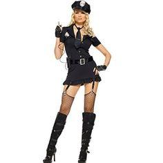 Dirty Cop Costume - Medium/Large - Dress Size 8-12