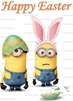 Minion Rock, My Minion, Minion Stuff, Minion Pictures, Easter Pictures, Happy Easter Quotes, Minions Despicable Me, Minions 2014, Easter Egg Designs