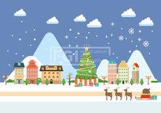 SILL151, 겨울배경, 벡터, 풍경, 에프지아이, 겨울, 배경, 백그라운드, 오브젝트, 크리스마스, 성탄절, 트리, 건물, 루돌프, 썰매, 도시, Background #유토이미지 #프리진 #utoimage #freegine 19516295
