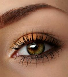 Makeup with orange nuance