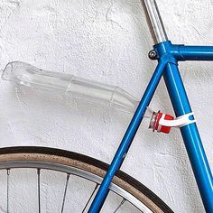 soda bottle converted to a bicycle fender