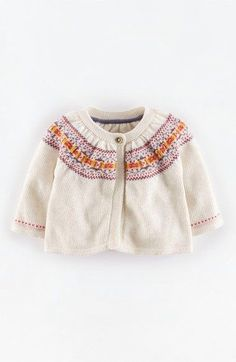 Mini Boden 'Pretty' Fair Isle Cardigan (Baby Girls) available at #Nordstrom