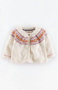girls girl v neck necked knitted cardi cardigan white long sleeved 6-12-18-24 m