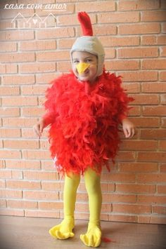 DIY chicken costume for kids - easy and cute - this blog has awesome ideas…