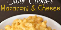Slow Cooker Creamy Macaroni and Cheese. Made this over the weekend. Very easy, SUPER YUMMY, reheats well!