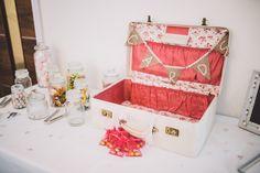 Vintage shabby chic wedding card briefcase