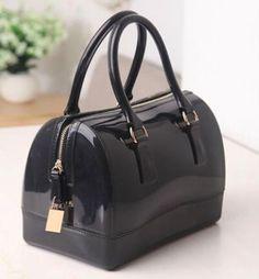 Sarit Luxury Black Jelly Satchel Bag