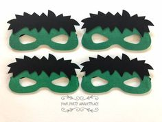 This item is unavailable Incredible Hulk Party, Incredible Hulk Costume, Hulk Birthday Parties, 4th Birthday, Birthday Ideas, Diy Party, Party Favors, Hulk Mask, Hulk Avengers