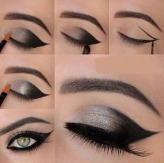 Pretty Smokey eye and winged eyeliner combo