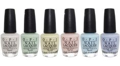 OPI Nail Lacquer Soft Shades Pastels Collection Spring 2016 Set of 6 Colors