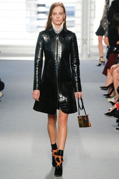 Croc Leather Coat - Louis Vuitton | Fall 2014 Ready-to-Wear Collection | Style.com