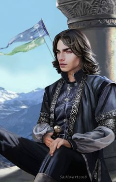 Eldarion of Gondor by SaMo-art. Eldarion Telcontar is the son of Arwen and Aragorn, born in the Fourth Age. He became the Second High King of the Reunited Kingdom of Gondor and Arnor after his father died. Character Creation, Character Concept, Character Art, Fantasy Male, Character Portraits, Medieval Fantasy, Fantasy Artwork, Paladin, Middle Earth