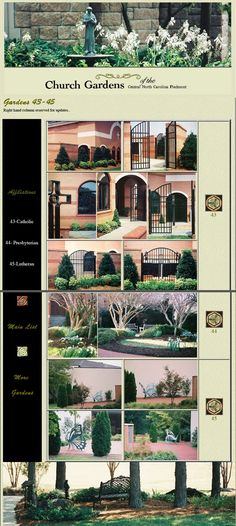 Church Gardens of the Carolina Piedmont: Another page from the former website, re-assembled Lutheran, Catholic, Gardens, Landscape, Website, Scenery, Outdoor Gardens, Corner Landscaping, Garden