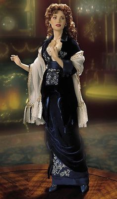 "Franklin Mint Rose Dewitt Bukater Titanic Doll in ""Flying."""