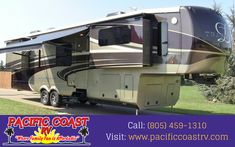 Pacific Coast RV provide the highest quality Class A and Class C motor homes, travel trailers, fifth wheels for sale. For more info call: (805) 459-1310