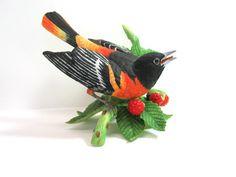 Baltimore Oriole Lenox Birds Figurine Porcelain Bird MicheleACaron on Etsy, $79.00