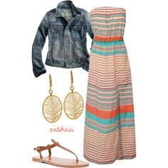 Maxi Dress Simple Spring Summer Outfit by natihasi on Polyvore featuring polyvore, мода, style, Rare London, Madewell, K. Jacques, David Aubrey, fashion and clothing