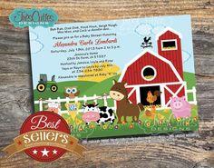farm animal baby shower invitations | Farm Animals Baby Shower Invitations - Its a boy girl twins neutral ...