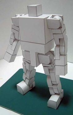 Highly Poseable Robot Papercraft