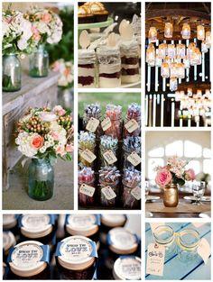 Mason Jar Weddings..we ♥ this! moncheribridals.com