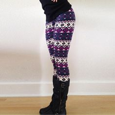 ffbb8cf1fa129 61 Best Pattern leggings images | Tights, Patterned leggings outfits ...