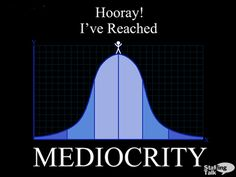 Mediocrity... Only happens when you forget your own adaptability. Something messes up? Okay. There are other things you can do.