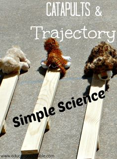 Simple Science: Catapults and Trajectory @Education Possible #STEM #catapults