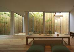 fließender Übergang von Innen-und Außenbereich-kleiner Garten …