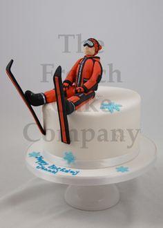 Sporty cake Skiing - Gateau D'anniversaire Sport Ski - Verjaardagstaart