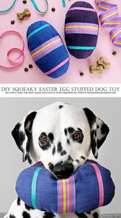 DIY Easter Dog Toy | DIY Squeaky Easter Egg Stuffed Softie Dog Toys