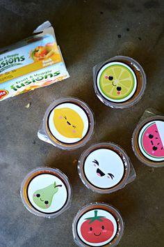 Pegatinas para la comida kawaii // Kawaii stickers free printable for school food