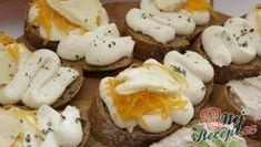 Recept Chlebíčky se sýrovou pěnou Brie, Baked Potato, Eggs, Potatoes, Baking, Breakfast, Ethnic Recipes, Food, Tiramisu