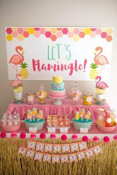 -Flamingo + Flamingle Pineapple Party at Kara's Party Ideas. See more at karaspartyideas.com!