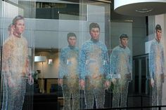 """This lovely piece of hanging artwork can be found at Microsoft's Studio D offices in Redmond, Washington.  Called """"Mirror Universe,"""" it was created by Devorah Sperber."""