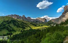 Passo Gardena Dolomites Italy by EuropeTrotter #landscape #travel