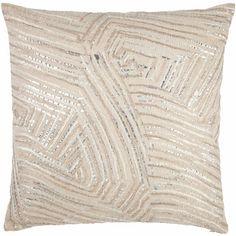 John Robshaw Textiles - Zinc Decorative Pillow - Fold - PILLOWS