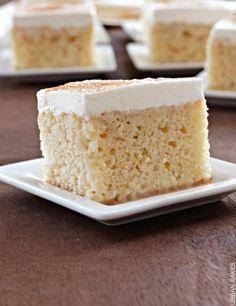 Tres Leches Cake | recipe, traditionally using three milks: sweetened ...