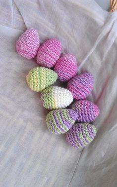 Crochet Colorful Eggs Garland Eggs Crochet by MilenaCrochet