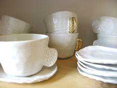 Image of Bridget Bodenham cup & saucer - gold handle