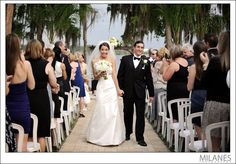 Paradise Cove is located on Lake Bryan in Lake Buena Vista near Disney.  Beautiful scenery for an outdoor wedding!
