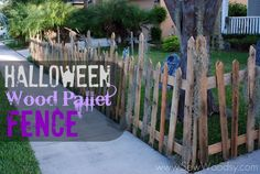 Halloween Wood Pallet Fence