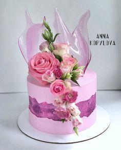 Orange cake and candied fruit - HQ Recipes Cake Icing, Buttercream Cake, Cupcake Cakes, Mini Cakes, Pretty Cakes, Beautiful Cakes, Amazing Cakes, Birthday Cake Roses, Buttercream Decorating