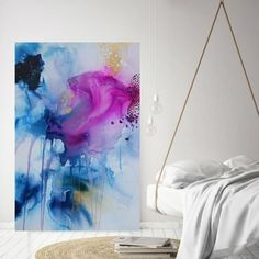 Large abstract art by Mette Lindberg // Stort kuntværk af Mette Lindberg