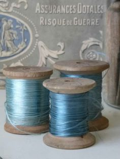 Goods from China-silk thread Turquoise, Aqua, Couture Vintage, Thread Spools, Silk Thread, Betty Blue, Vintage Sewing Notions, Color Plan, Sewing Box
