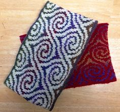 Spiral cowl, double face knitting, free pattern