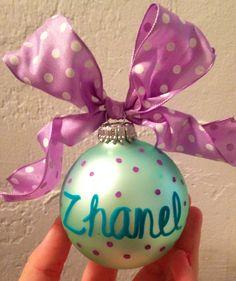Gamma Eta Christmas ornament for Little